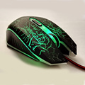 6 Botones USB Wired Optical Gaming Mouse Computer Ratones 4000 DPI Respiración Oyun luz PC Portátil Cable Mause Gamer para Dota 2 LOL