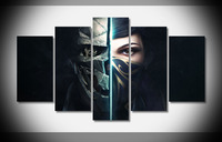 7382 Dishonored 2 Game Mask Girl Poster Framed Gallery wrap art print home wall decor Gift wall picture Already to hang digital