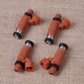 Tracking# High Quality 4pcs Set New Orange Fuel Injector for Yamaha Outboard Mitsubishi Eclipse INP771 Flow Matched CDH210
