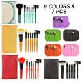 9colors 7Pcs professional makeup brushes Set kit  Woman's Kabuki Cosmetic Makeup Brush tools/Foundation Brush for make up