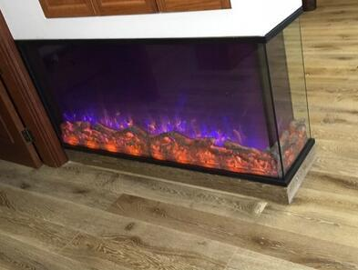Decorative Two Sided Electric Fireplace Electric Fireplace