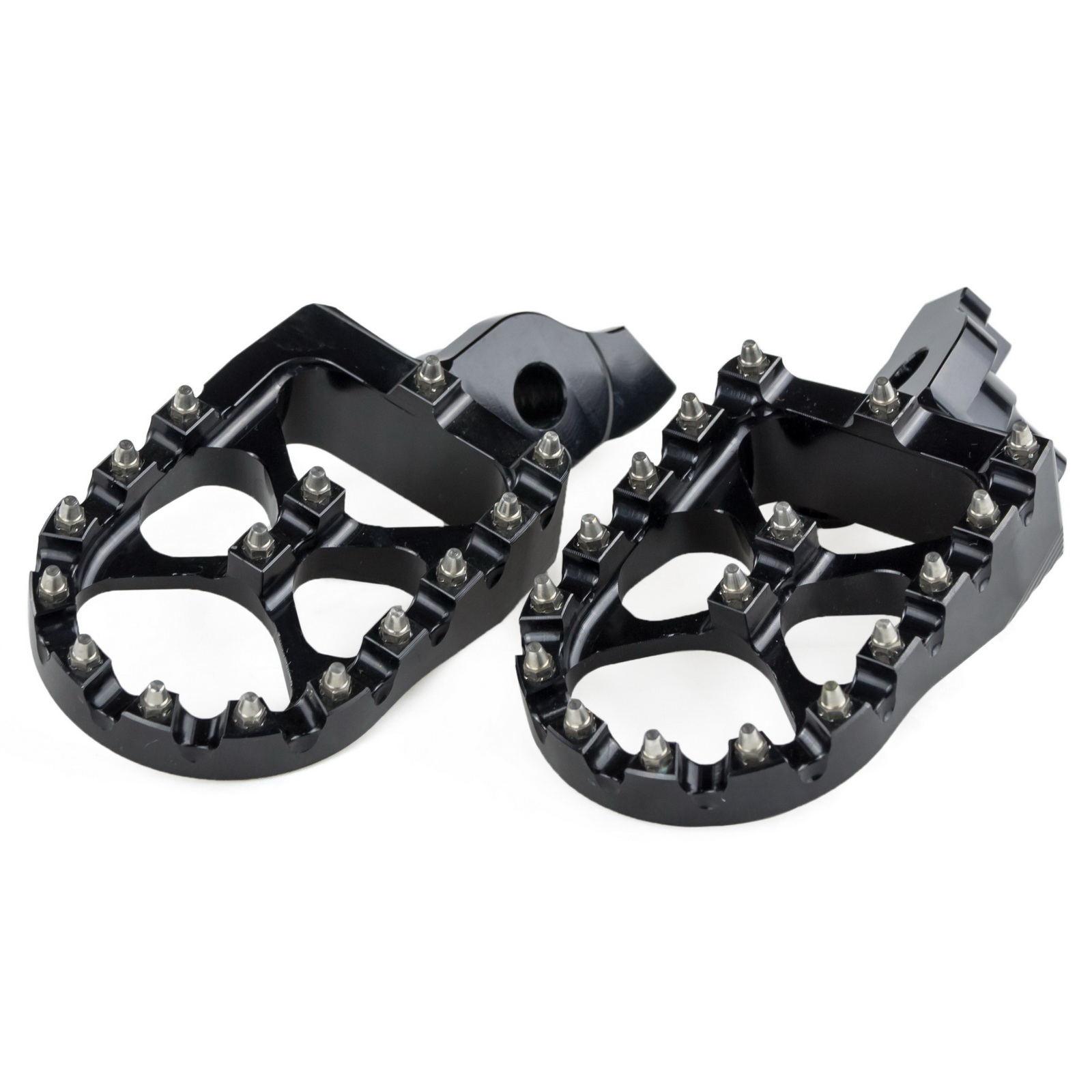 57mm MX Wide Foot Pegs Pedal Footrests Footpeg For Suzuki RMZ250 RM-Z250 2007 2008 2009 RMZ450 RM-Z450 2005 2006 2007