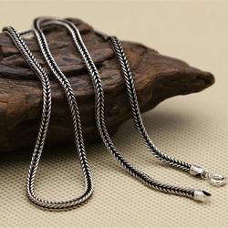 الفضة 925 سلسلة نسج الحبل سلسلة ل قلادة الرجال النساء كبار الحرفية 100% ريال 925 فضة مادة ديا 2 ملليمتر ، 45 ~ 80 سنتيمتر