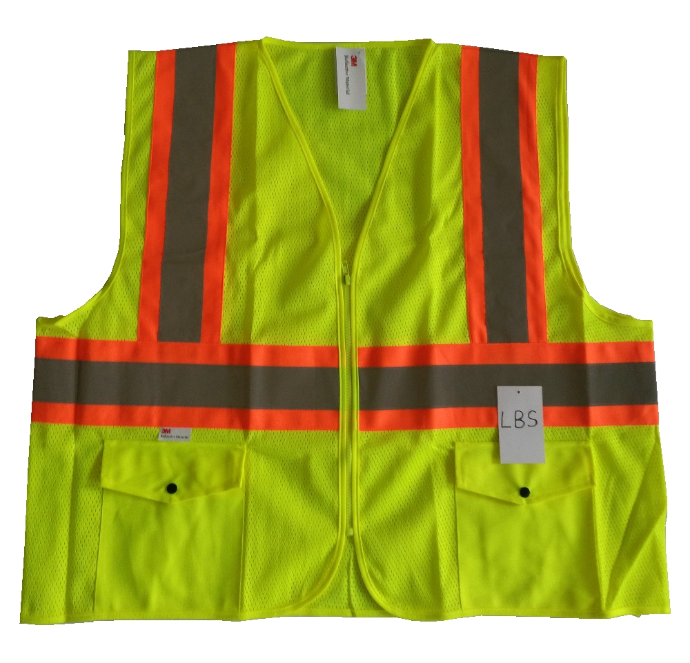 High vis safety reflective clothing safety vest with six pockets high vis fleece visibility safety jumper