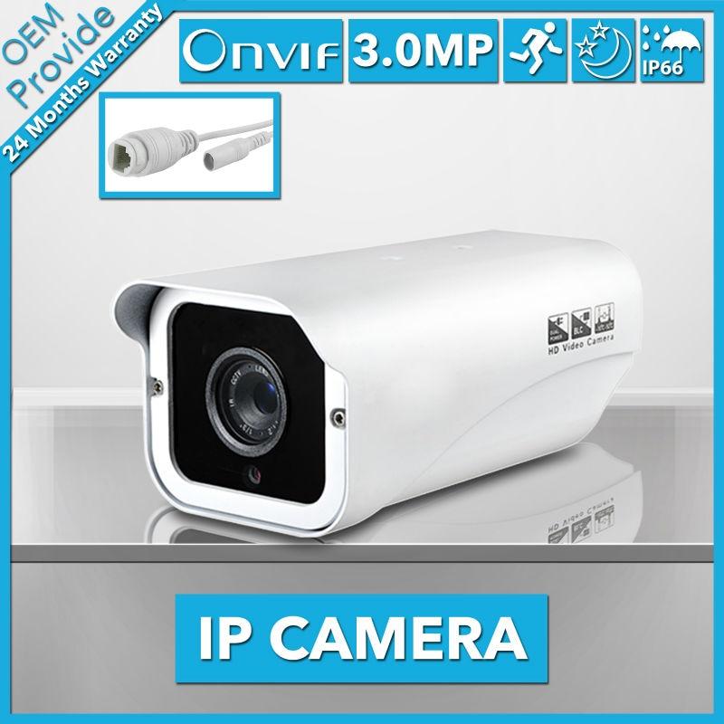 FL-W-IP4200PH-E hot sale 3.0MP Bullet IP Camera Waterproof 2 LED IR Night Vision Outdoor ...