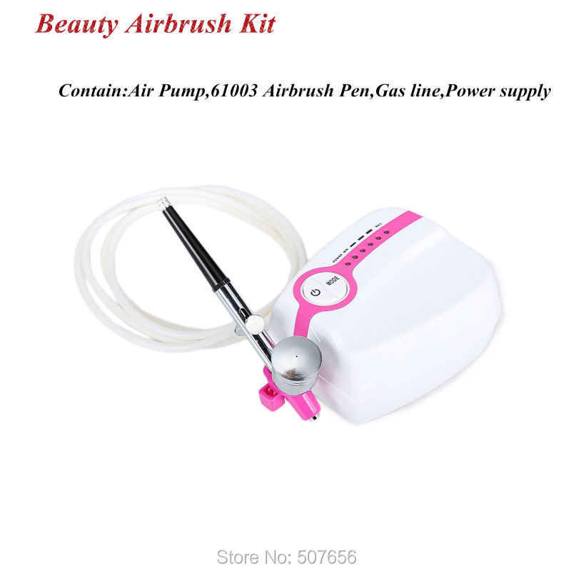 Beauty Temporary Airbrush Tattoo Makeup Kit With Airbrush Pen And Air Compressor For Body Paint High Quality