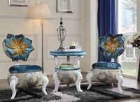 Europejski Styl Piękny Kwiat Kanapa Krzesła Z Centrum Tabeli