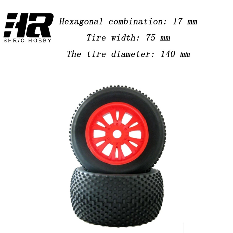 RC 1/8 car 17m Hub Wheel Rim & Tires Tyre for 1/8 Off-Road RC Car Buggy XRAY LOSI HSP F061B tire of a bigfoot tyre truck 02023 clutch bell double gears 19t 24t for rc hsp 1 10th 4wd on road off road car truck silver