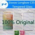 Leva De Acero Temperli Siswoo C55 Vidrio Templado Original de Buena Calidad Protector de Pantalla de Cine Para Longbow Siswoo C55 Teléfono-Envío nave