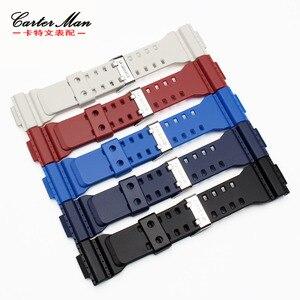 Image 5 - Bracelet de montre en caoutchouc de haute qualité + étui de montre pour Casio GA 110 GA100 GD 120 bracelet de montre en silicone pour hommes