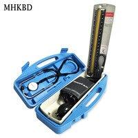 MHKBD Mercury Sphygmomanometer and Stethoscope Home Health Blood Pressure Monitor Fetal Doppler Medical Equipment Gift Box 2in1