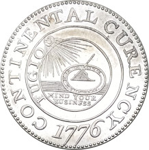 United States Of America 1776 Xing Your Business The Continental One Dollar Br Silver Plated Copy Coin