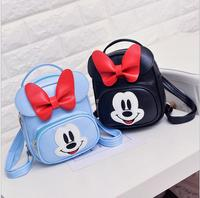 2018 sweet baby girls school bags candy color cartoon children backpacks kids satchel kindergarten bags with rabbit and micky mo