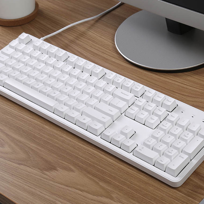 Image 4 - Xiaomi Ergonomic 104 Keys Full Size Mechanical Keyboard Cherry Red Switch USB Wired Keyboard Gaming Keyboard For Win 7/8/10 Mac-in Keyboards from Computer & Office