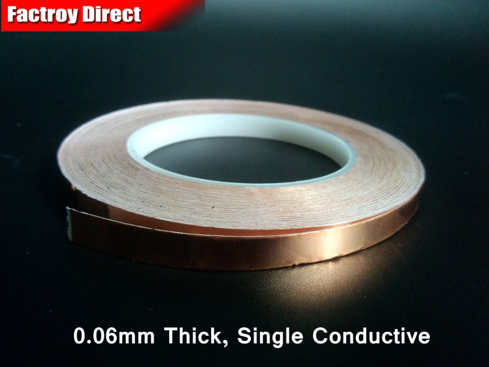 (10mm*30M*0.06mm) Adhesive Single Sided Electric Conductive Copper Foil Tape for Radiation EMI EMC Shield  Mask elektrostandard настенный светильник elektrostandard taurus u малахит арт glxt 1458u 4690389065118