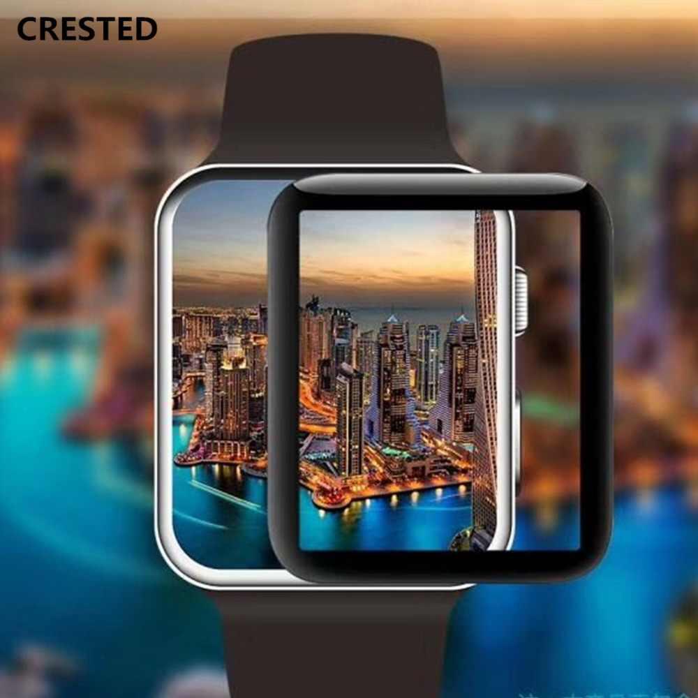 9H película de vidrio templado para apple watch band apple watch 5 4 3 44mm 40mm superficie curvada completa iwatch 5 42mm 38mm Protector de pantalla