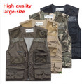 Hot Sale New Mens Mesh Photography Camera Photo Camping Vest Jacket Waistcoat Plus Size