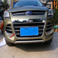 Chrome Front Grille Around Cover Trims For 2013 2014 2015 Ford Kuga Escape High Quality Chrome