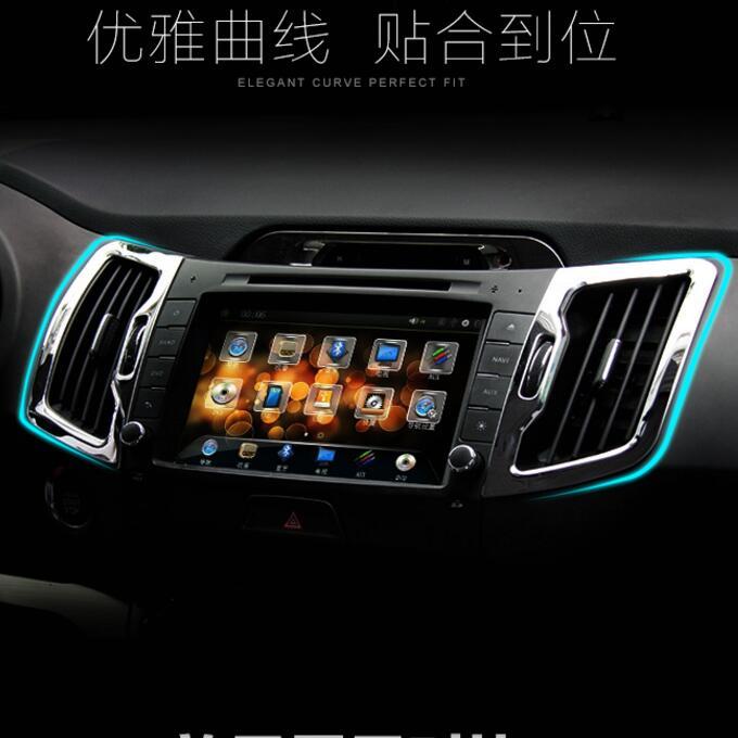 Car-Styling Car interior air vent decorative trim frame car styling for <font><b>kia</b></font> Sportage R 2011-2017 Auto Accessories