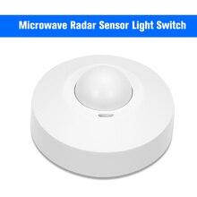 Czujnik mikrofalowy włącznik światła sufitowe czy szukasz PIR ciała wykrywacz ruchu 360 stopni ustawienie czasu 5.8 GHz HF system
