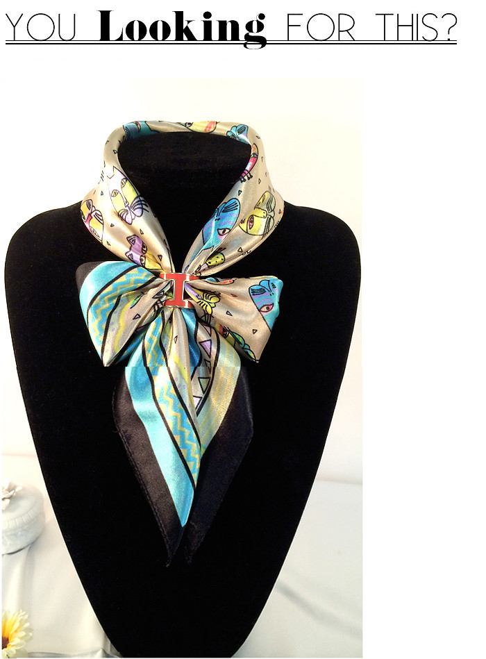 BS041 Fashion Women Top quality Brass letters H Colored enamel Brooches Shawl Scarves accessories Scarf buckle