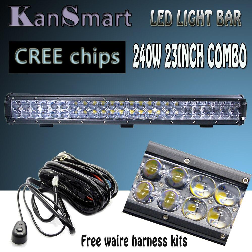 Off road Driving Lamps 4D Lens Cree Chips 240W 23 LED font b Light b font