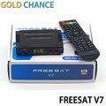 10 unids recién llegado Freesat V7 DVB-S2 HD receptor de TV por satélite Youtube potencia VU CCcam Newcamd envío gratis no apoyo IPTV