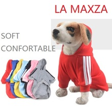 La MaxZa Whole Sale Dog Clothes Pets Coats Soft Cotton Puppy Adidog For New 2014 Autumn Pet Products