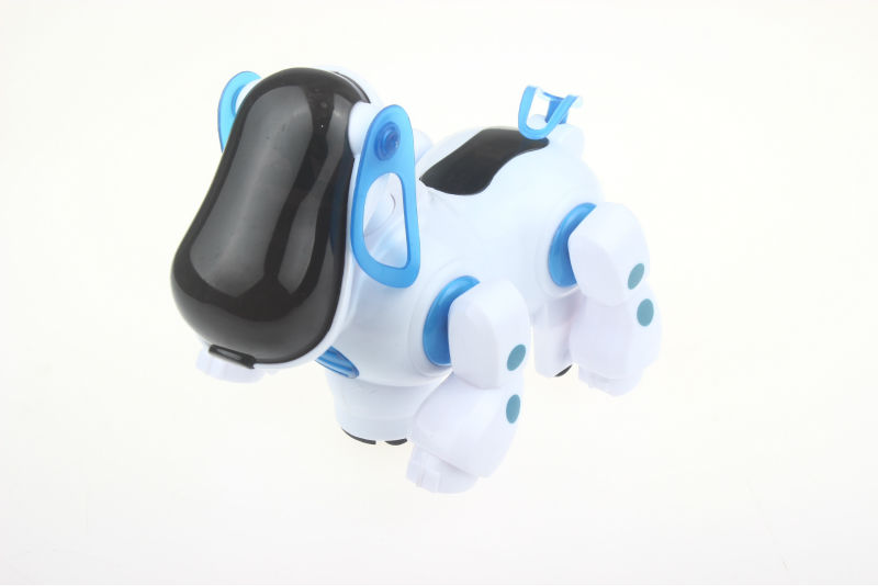 Elektronischer Roboter Hund Schöne Musik Shine Intelligenter Roboter Walking Dog Welpe Action Toy Pet Kinder Baby mit Musik Licht FSWOB