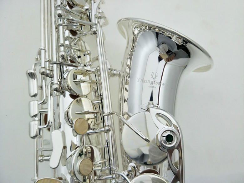 Brand Musical Instrument YANAGISAWA A-992 Brass Alto Saxophone Silver Plated Eb Tone E Flat Sax With Case Free Shipping hot brand new gold lacquer eb alto trombone student horn nice tone instrumentos musicais profissionaltuba brass