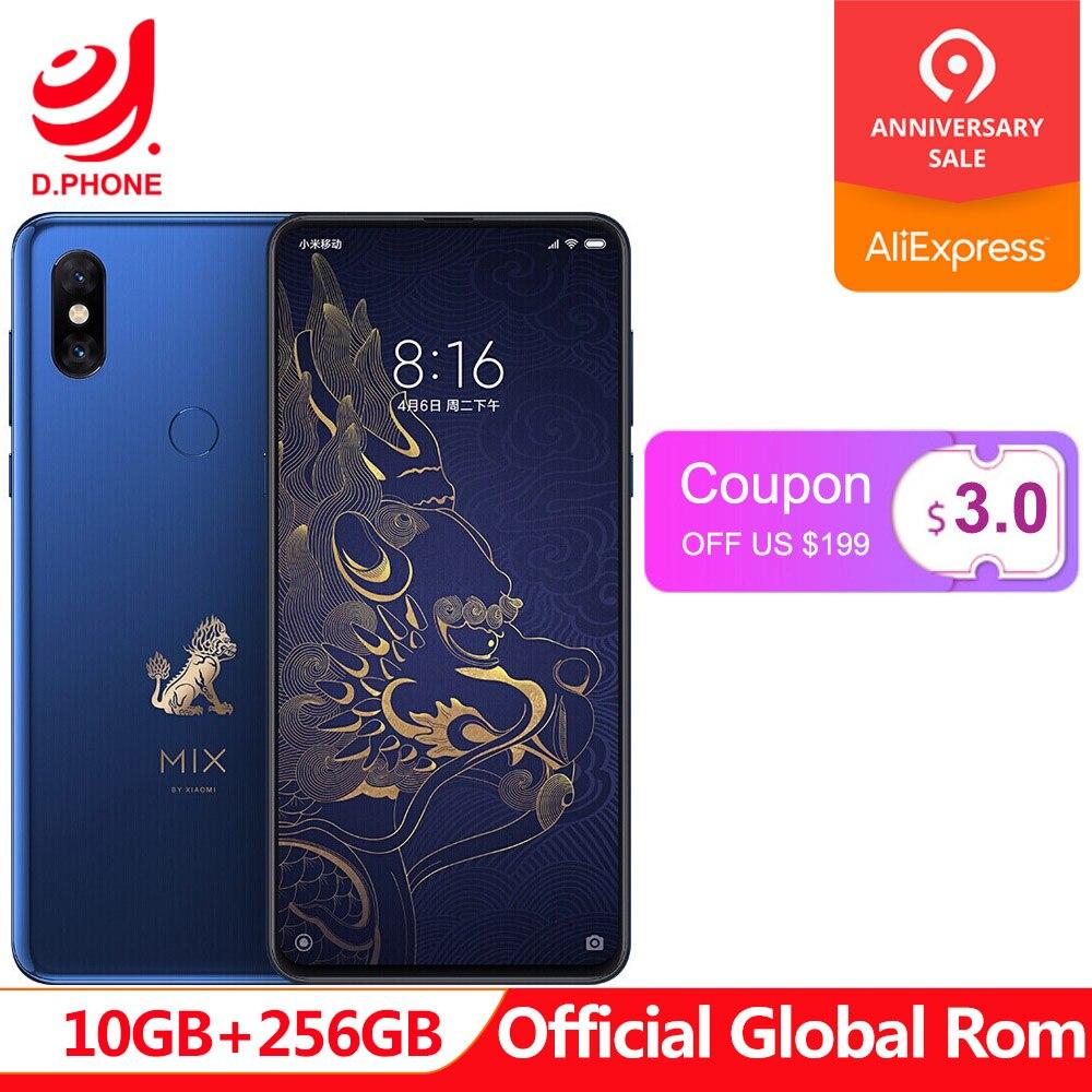 Cité interdite Rom globale Xiaomi Mix 3 Mix3 10 GB RAM 256 GB ROM téléphone portable S845 Octa Core 24MP caméra 6.39