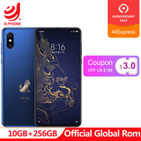 Forbidden City Global Rom Xiaomi Mix 3 Mix3 10GB RAM 256GB ROM Mobile Phone S845 Octa Core 24MP Camera 6.39 Wireless Charging