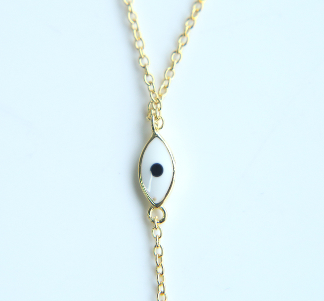 New 925 sterling silver trendy fashion women jewelry Long chain luxury evil eye sexey women summer silver Y lariat necklace