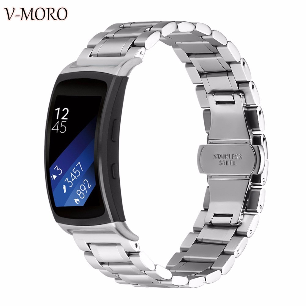 V-Moro Fit 2 Strap Wristband Stainless Steel Watch Band For Samsung Gear Fit 2 SM-R360 Bands Accessories Straps Gear Fit2 Fit2
