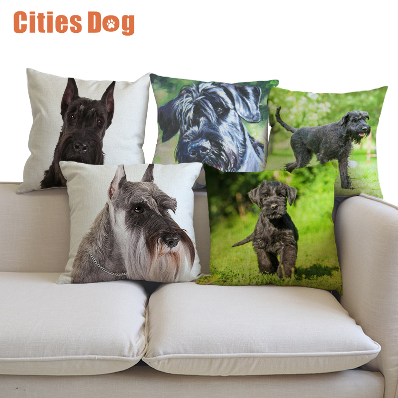 Decorative Cushion Animal Dog Pillows Cojines Linen Giant