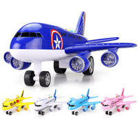 Airlines Plane Model Airbus Aircraft Model Plane Model Toys Children Early Educational Story Machine Sound Light Toys