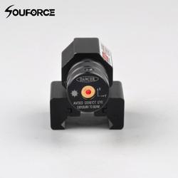 Маленькая красная точка лазерный прицел с 50-100 м Диапазон 635-655nm для пистолета регулируемый 11 мм 20 мм Пикатинни rail Охота прицел