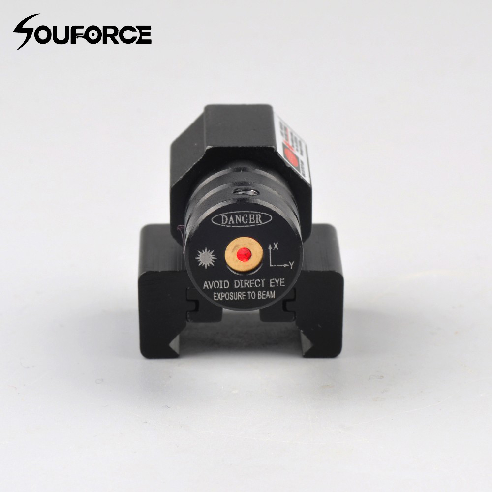 Small Red Dot Laser Sight with 50-100 Meters Range 635-655nm for Pistol Adjustable 11mm 20mm Picatinny Rail Hunting Rifle Scope