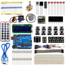 Promo offer Starter Kit For Arduino UNO R3 Learning Basic Suite For Uno R3 Board Stepper Motor 1602 LCD DIY Project free shipping