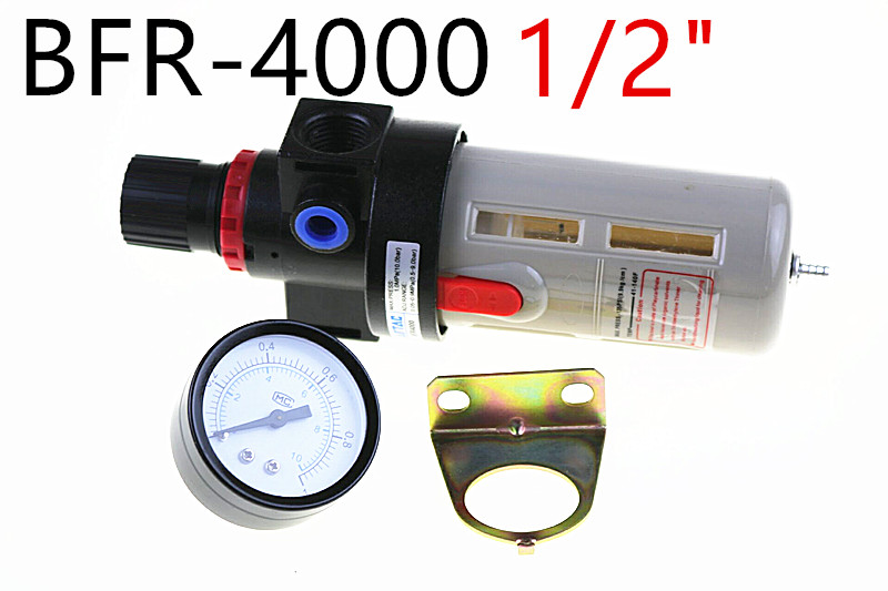 цена на 1/2 Airtac BFR-4000 Source Treatment Unit Pneumatic Air Filter Regulator With Pressure Gauge + Cover BFR4000