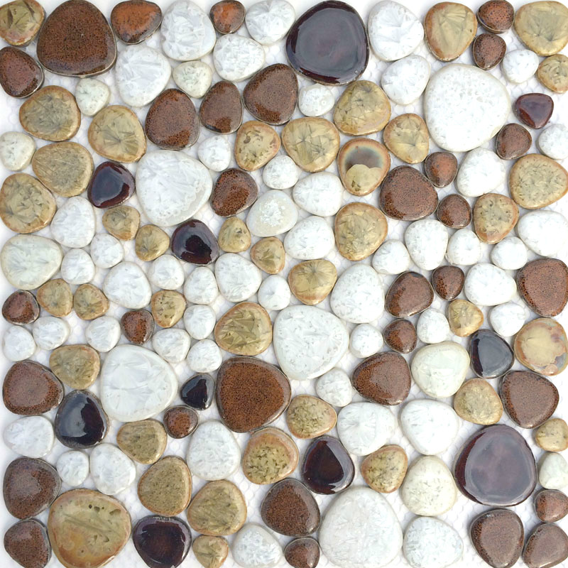 New style pebble pattern ceramic mosaic tile kitchen backsplash shower wallpaper bathroom swimming pool wall tiles wholesale