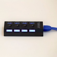 USB 3.0 Hub 4 Ports Super Speed 5Gbps 4-port USB 3.0 Hub With on/off Switch For Windows Mac OS Linux PC Laptop