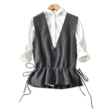 Spring and autumn winter short vest female 2019 waist new cashmere sweater knit jacket