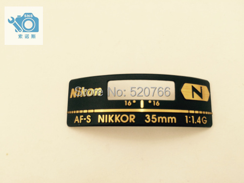 Free shipping, new and original for niko AF-S Nikkor 35mm F/1.4G 35MM NAME PLATE JAA13451-1310 free shipping for sim900a new and original