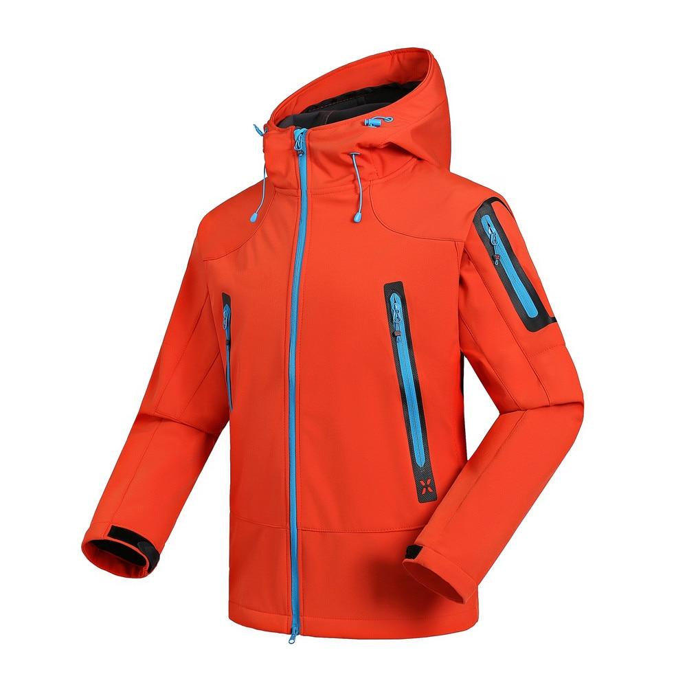 Waterproof SoftShell Hiking Jacket Men Windbreaker Breathable Rain Coat Outdoor Trekking Fishing Camping Fleece Warm Jackets