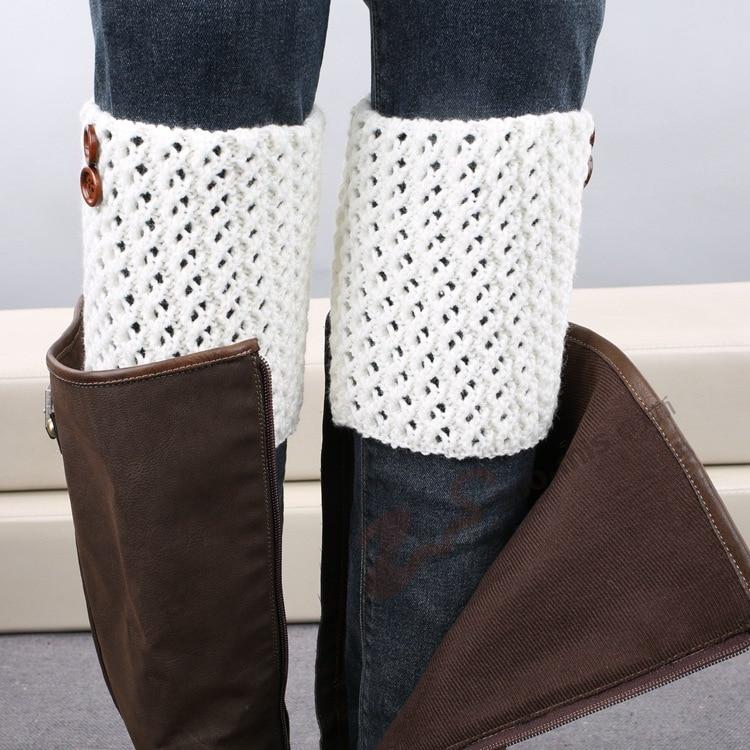 Moda diseñador mujer botones Calentadores de pierna Otoño Invierno ...