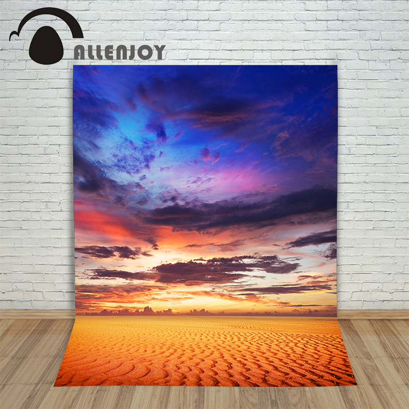 Allenjoy Vinyl photo studio Background Desert sky color landscape backdrops fotografia photographic paper цена