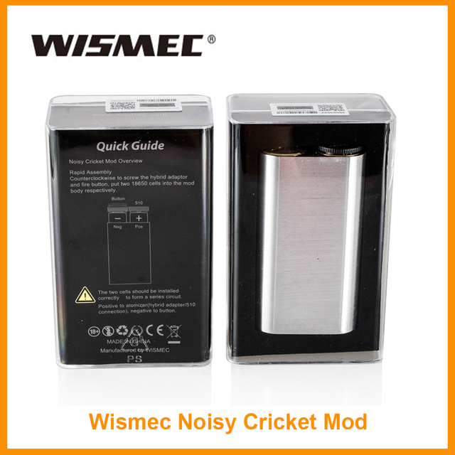 Большая распродажа 100% оригинал wismec шумный Крикет поле mod 18650 Батарея Гибридный адаптер электронная сигарета мод 510 нить wismec mod
