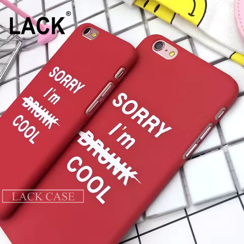 Fashion Funny Letter Case For iphone 6 Case For iphone 6S Plus 5 5S Phone Cases Cute Cartoon Back Cover Hard PC Capa Funda Coque