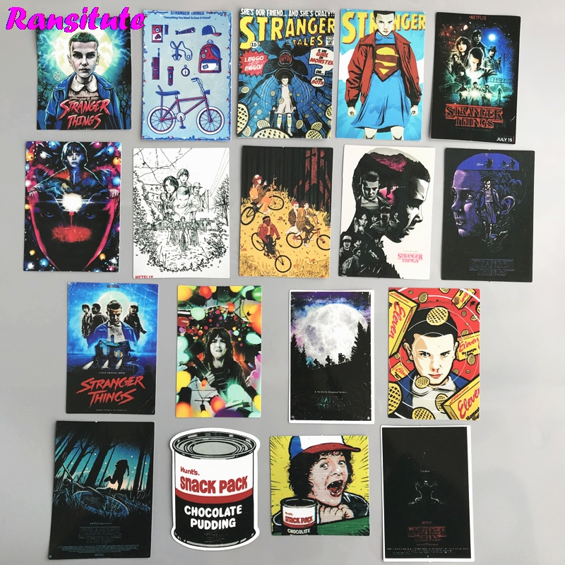 R149 18pcs/set Stranger Things Sticker Motorcycle And Suitcase Cool Laptop Sticker Skateboard Sticker